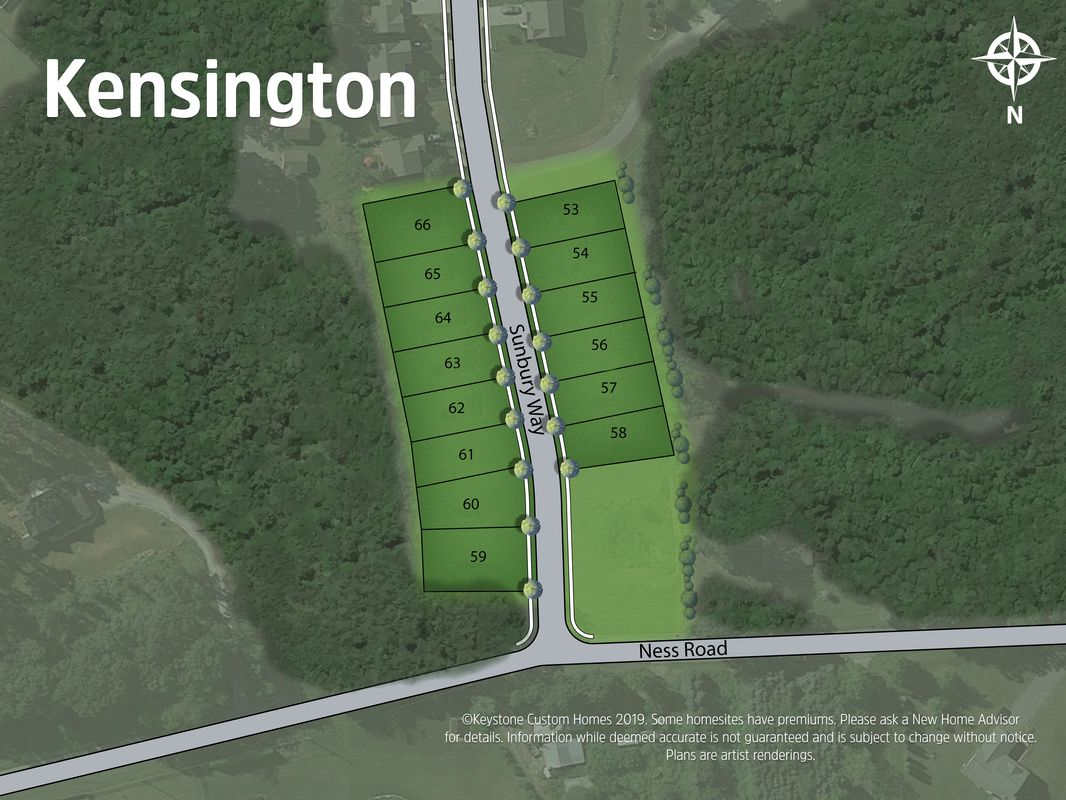 Kensington Lot Map Background