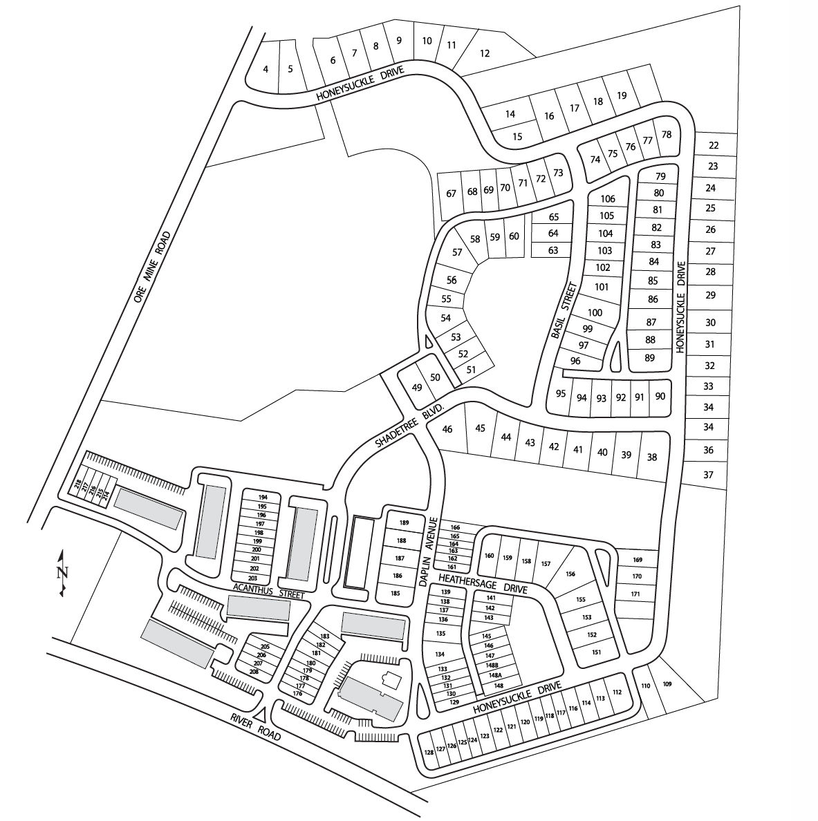 Castleton Manor Homes Lot Map Background