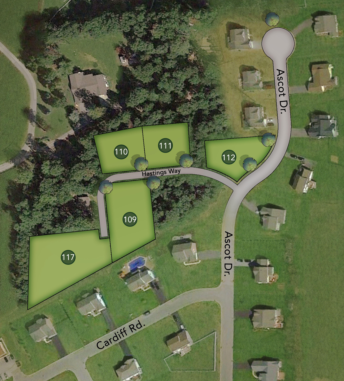 Heathcote Glen Lot Map Background