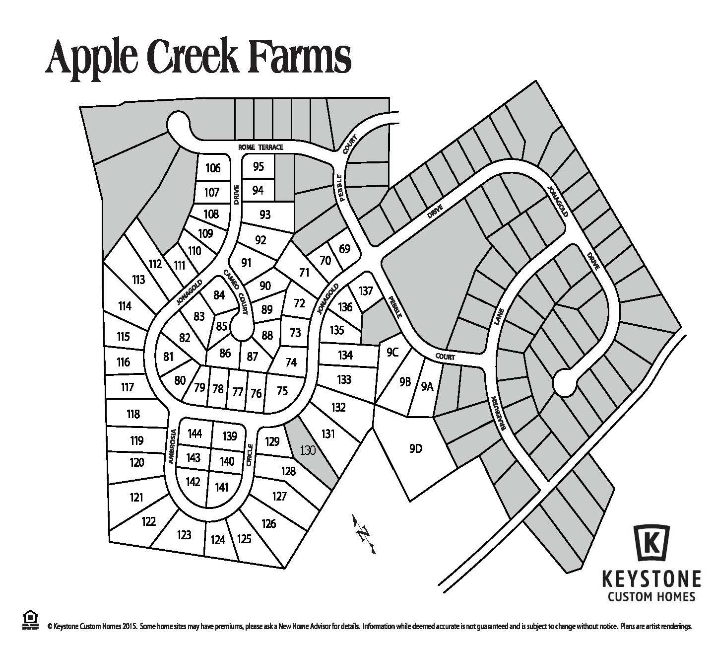 Apple Creek Farms Lot Map Background