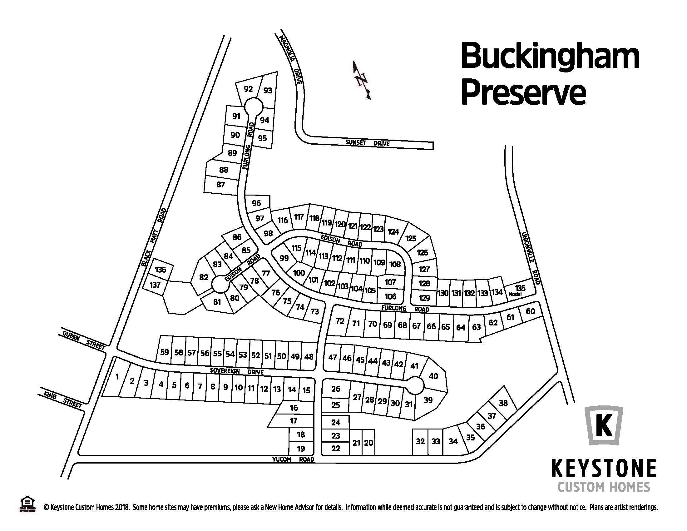 Buckingham Preserve Lot Map Background