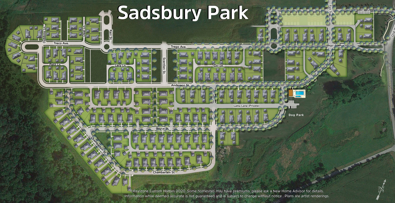 Sadsbury Park Lot Map Background