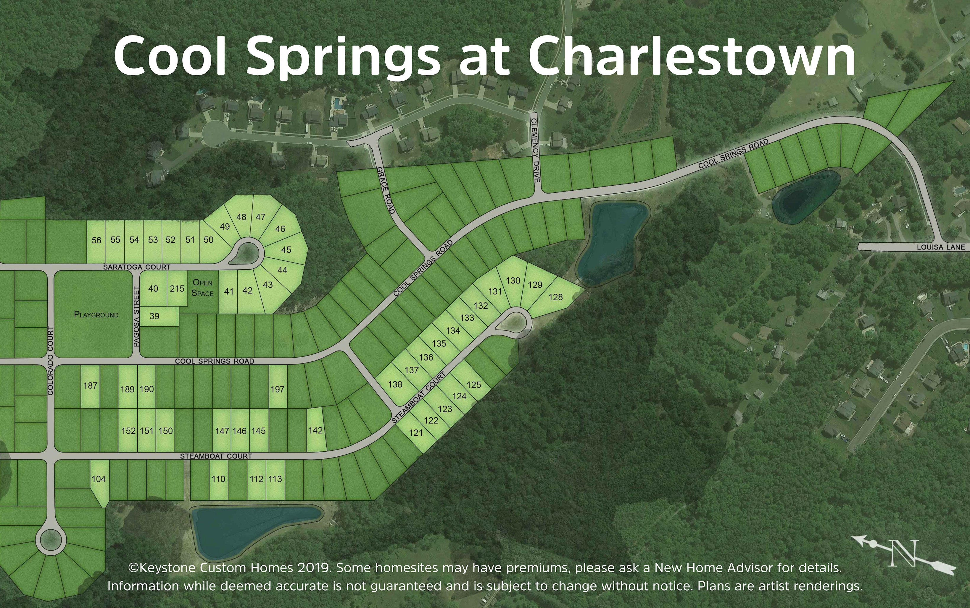 Cool Springs at Charlestown Lot Map Background