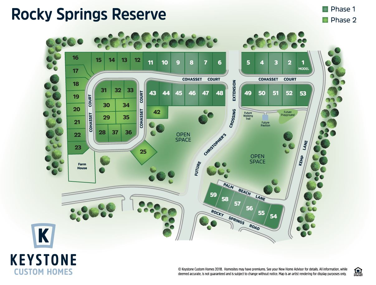 Rocky Springs Reserve Lot Map Background