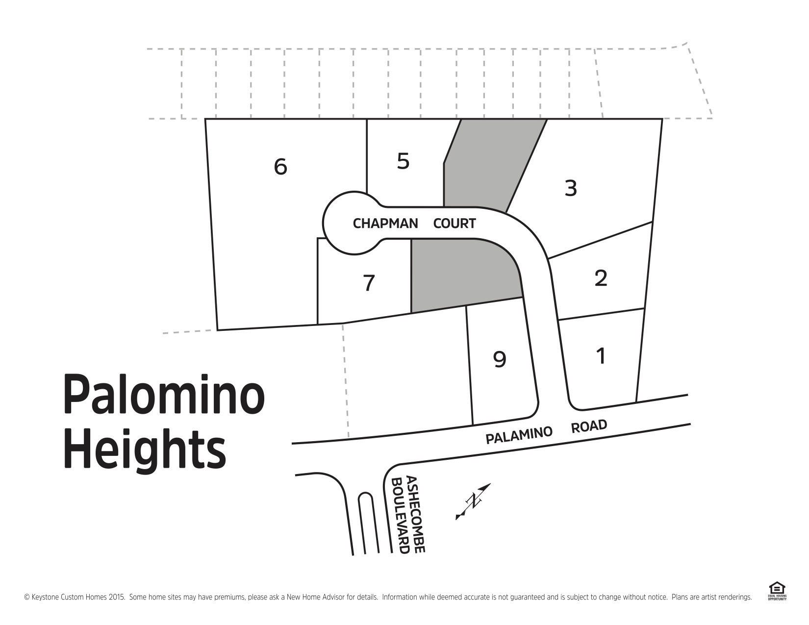 Palomino Heights Lot Map Background