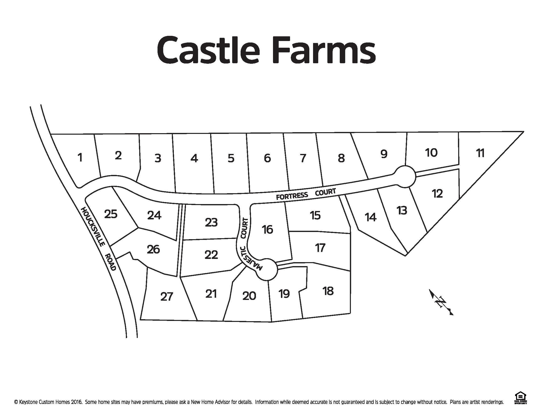 Castle Farms Lot Map Background