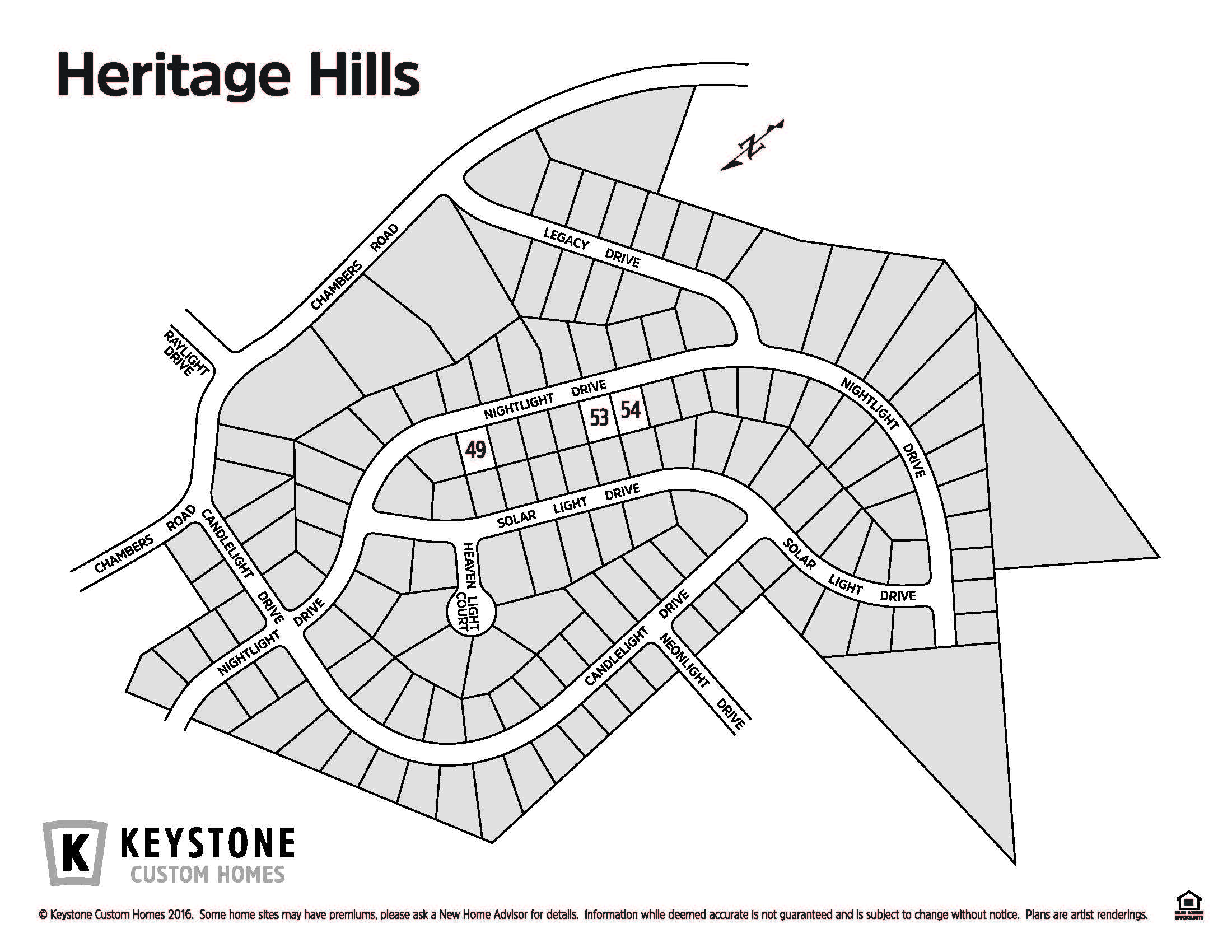 Heritage Hills Lot Map Background