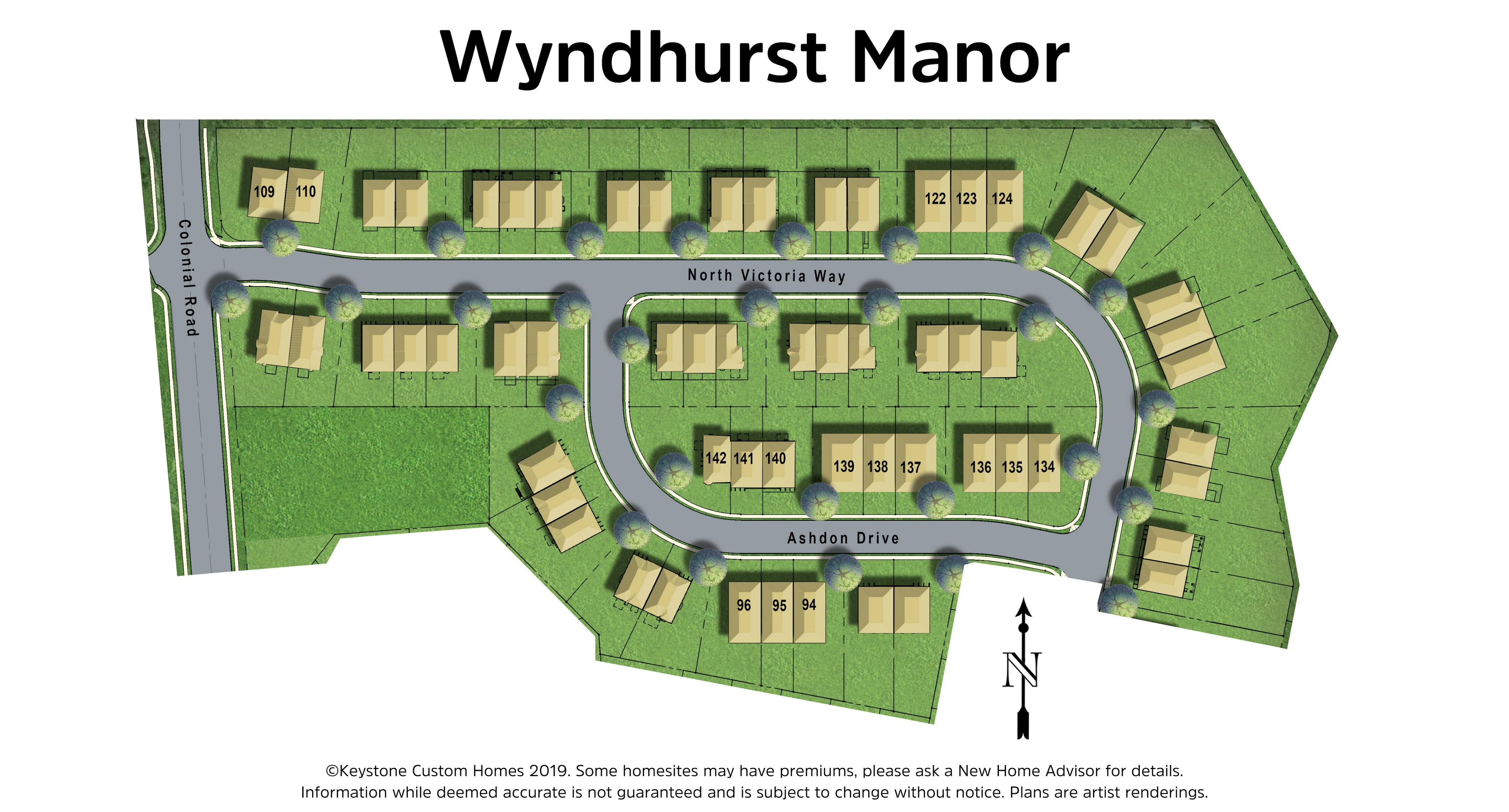 Wyndhurst Manor Lot Map Background
