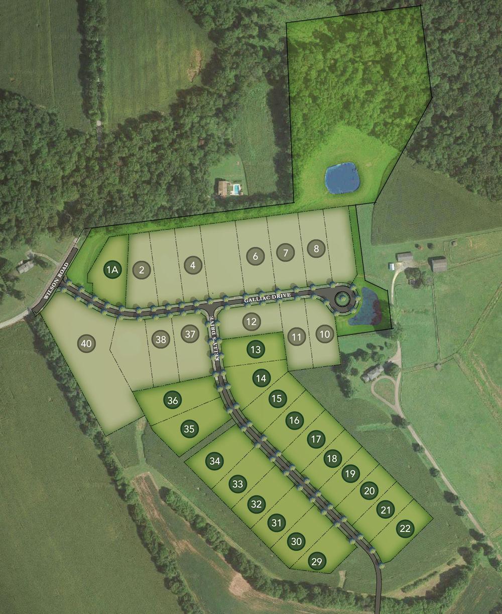 Dorado Meadows Lot Map Background