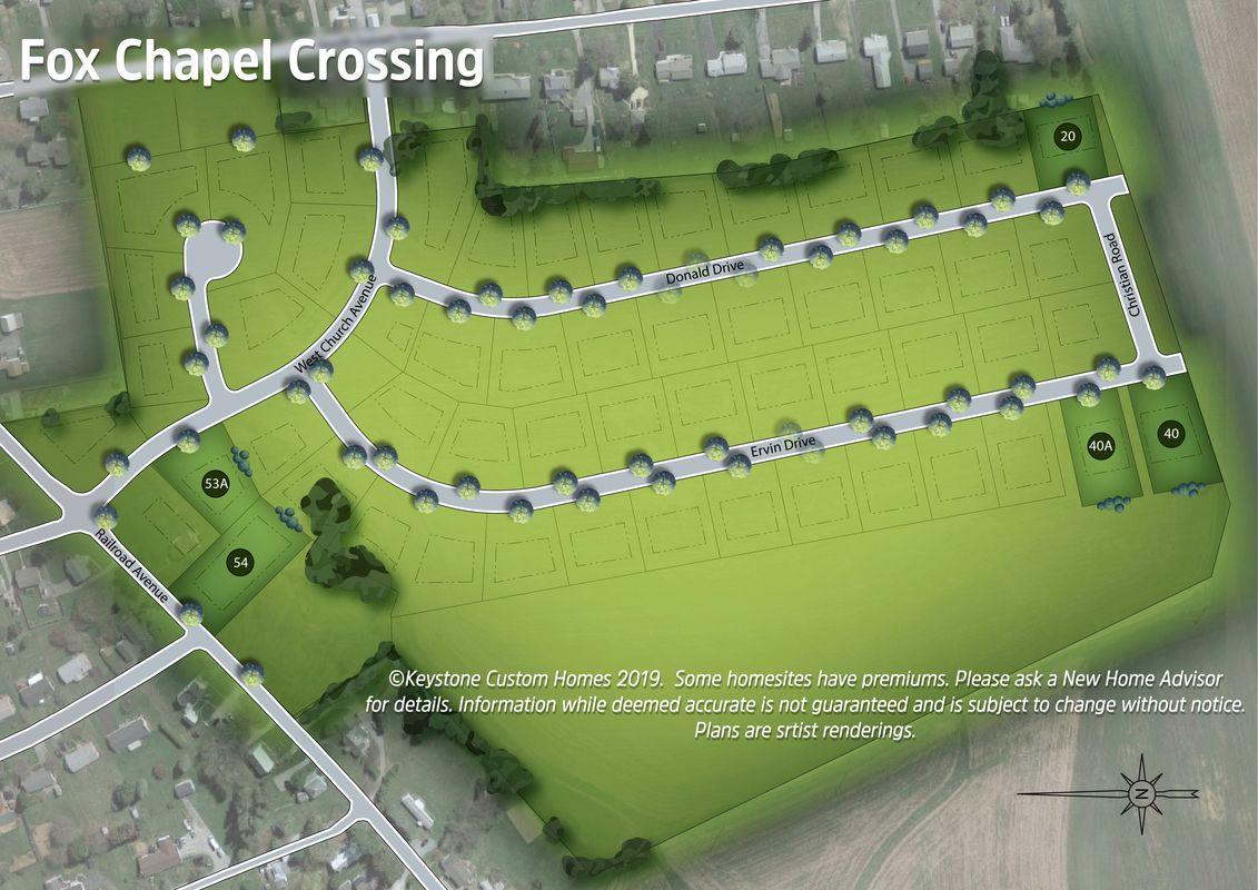 Fox Chapel Crossing Lot Map Background