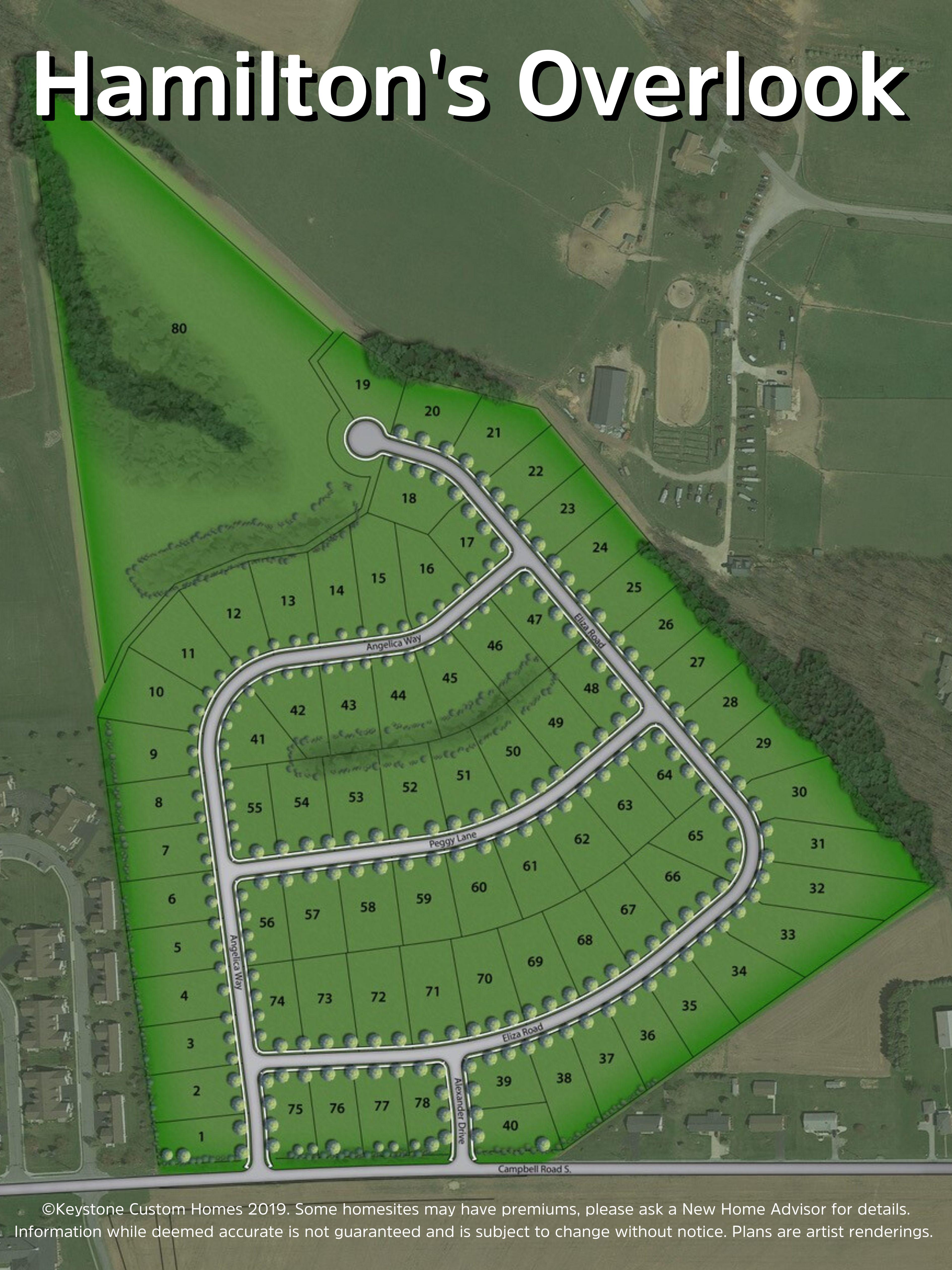 Hamilton's Overlook Lot Map Background