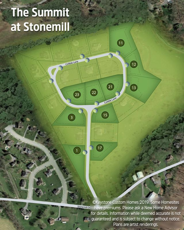 The Summit at Stonemill Lot Map Background