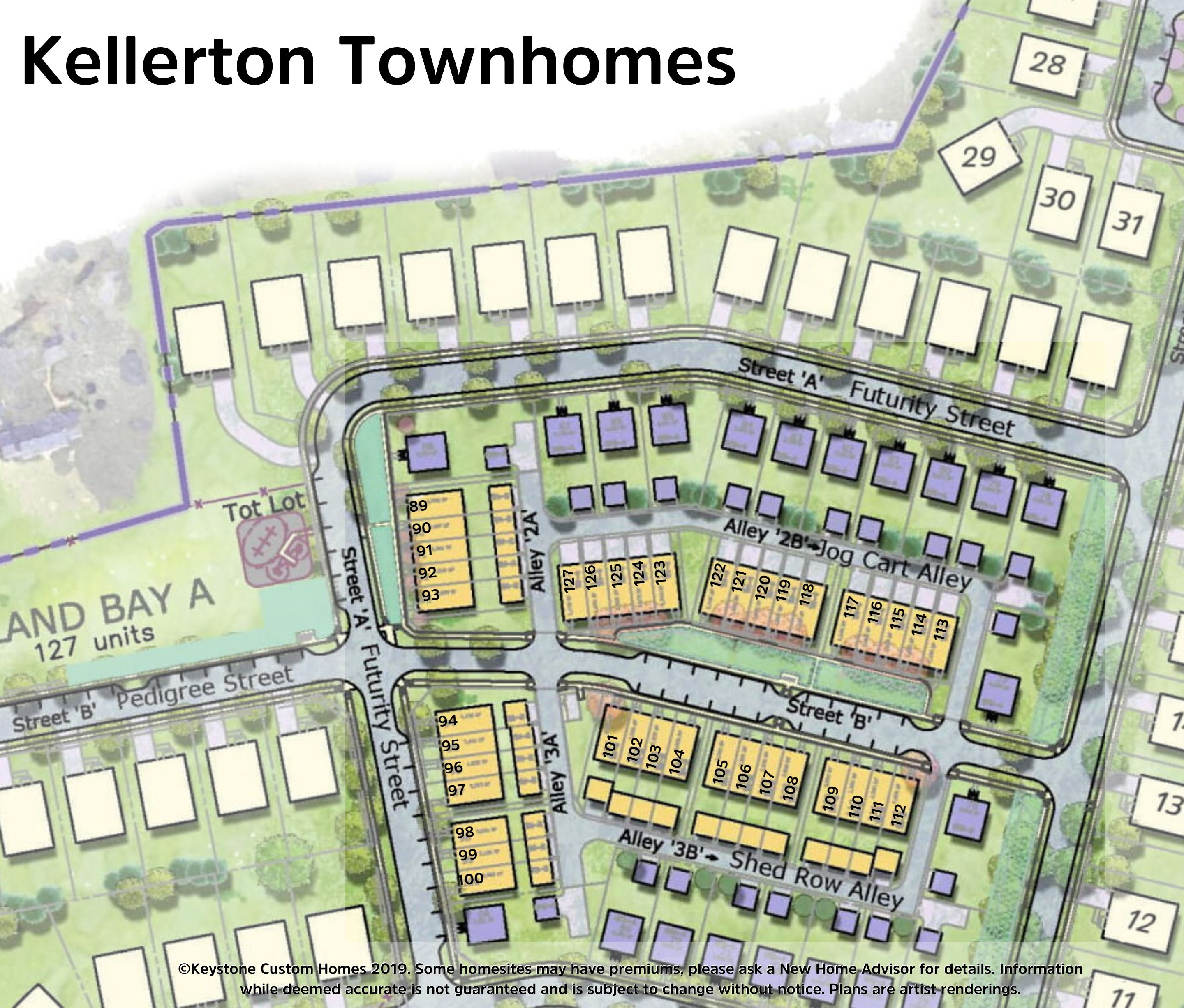 Kellerton Townhomes Lot Map Background